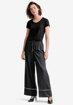 Wide Drawstring Pants by ellos®,