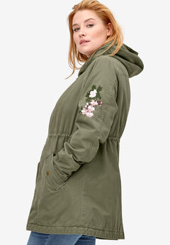Embroidered Twill Anorak Jacket by ellos®,