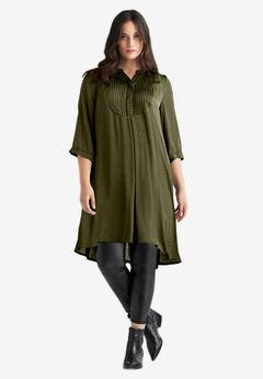 Studded Tunic Dress by ellos®, DARK BASIL