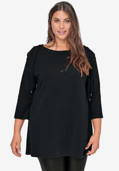 Lace-Up Shoulder Tunic by ellos®,