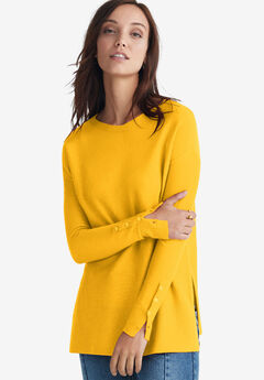 Boatneck Sweater Tunic by ellos®, SUNSET YELLOW