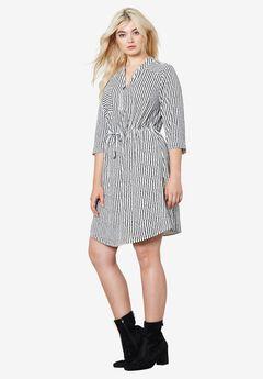 Lexi Zip Placket Dress by ellos®,