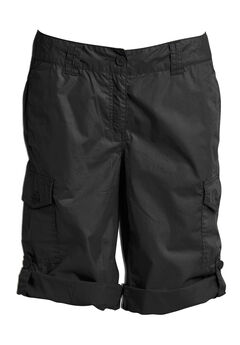 Convertible Cargo Shorts by ellos®, BLACK