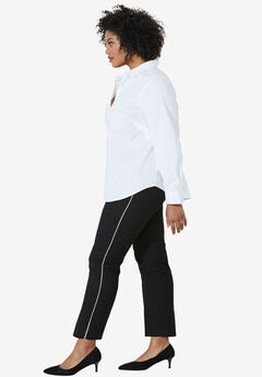 Slim Back Elastic Cropped Pants by ellos®,