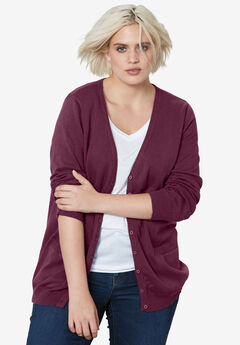 Everyday Cardigan by ellos®, MIDNIGHT BERRY