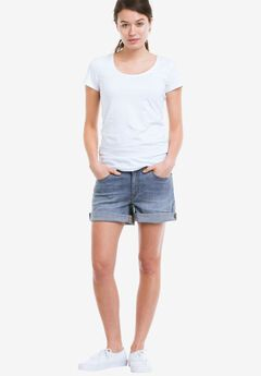 Rolled Hem Denim Shorts by ellos®,