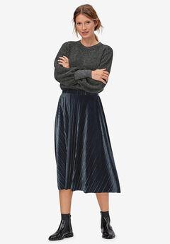 Velour Pleated Skirt,