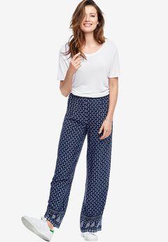 Printed Wide Leg Soft Pants By Ellos®,