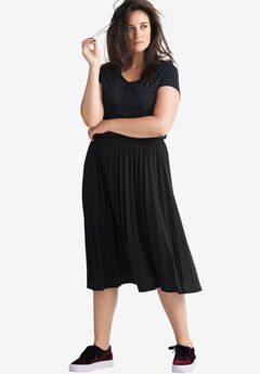 Pleated Knit Skirt by ellos®,