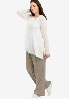 d47101acf4f Linen Blend Wide Leg Pants by ellos®