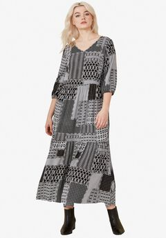 Printed Tiered Maxi Dress by ellos®,