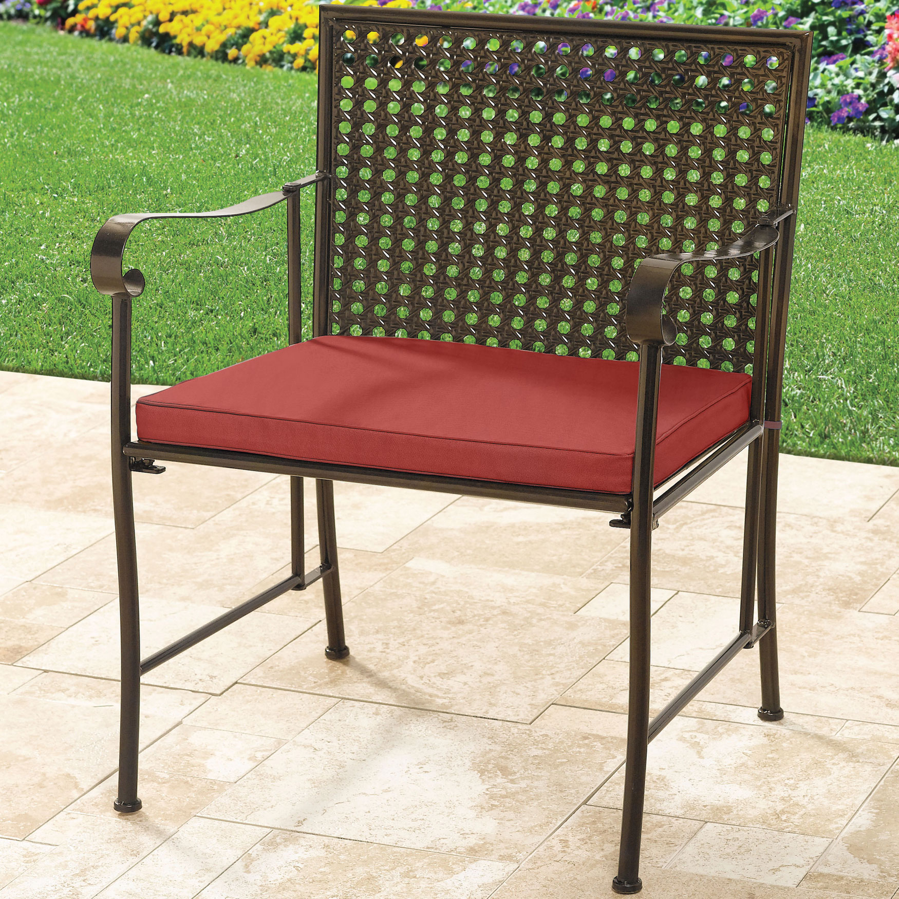 Extra Wide Metal Folding Chair, GERANIUM