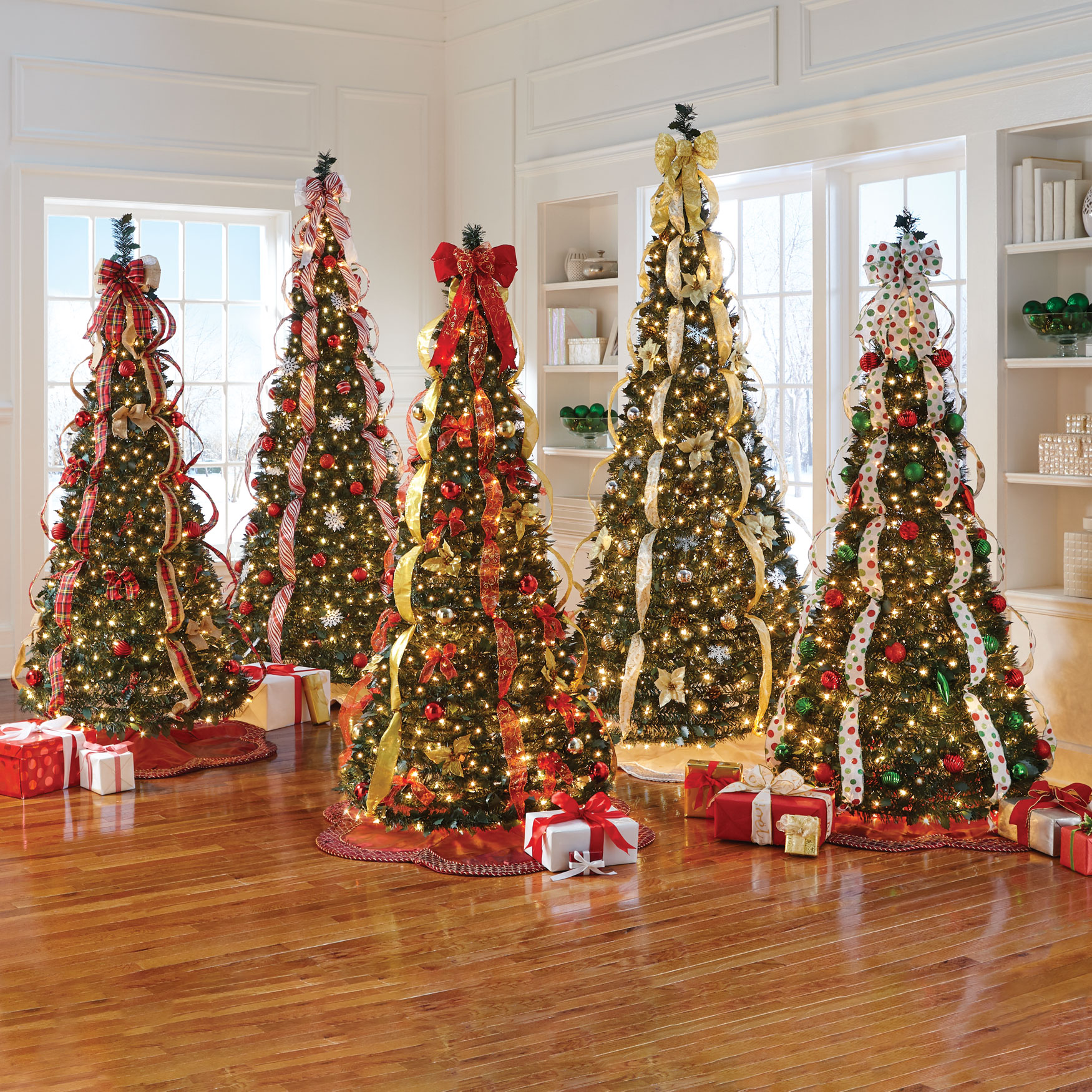 Fully Decorated Pre-Lit 7½' Pop-Up Christmas Tree,