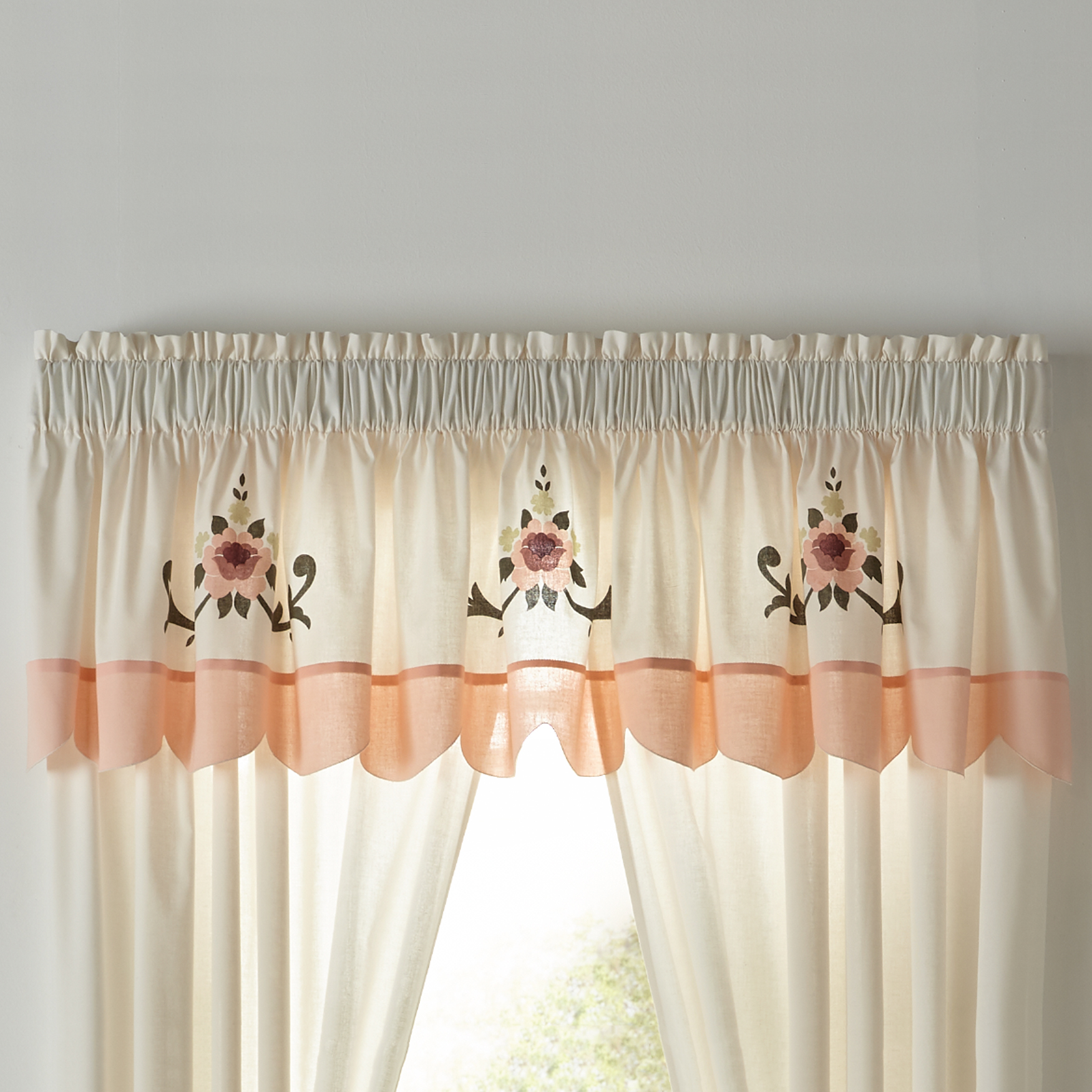 Ava Embroidered Valance,