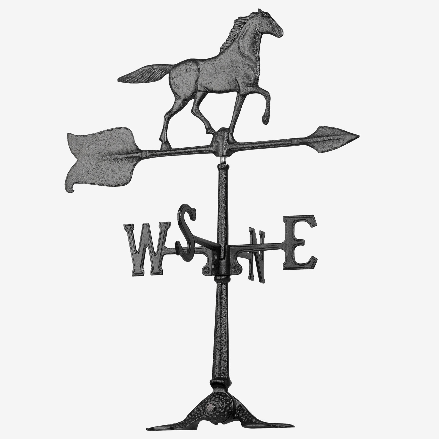 "24"" Horse Accent Weathervane, BLACK"