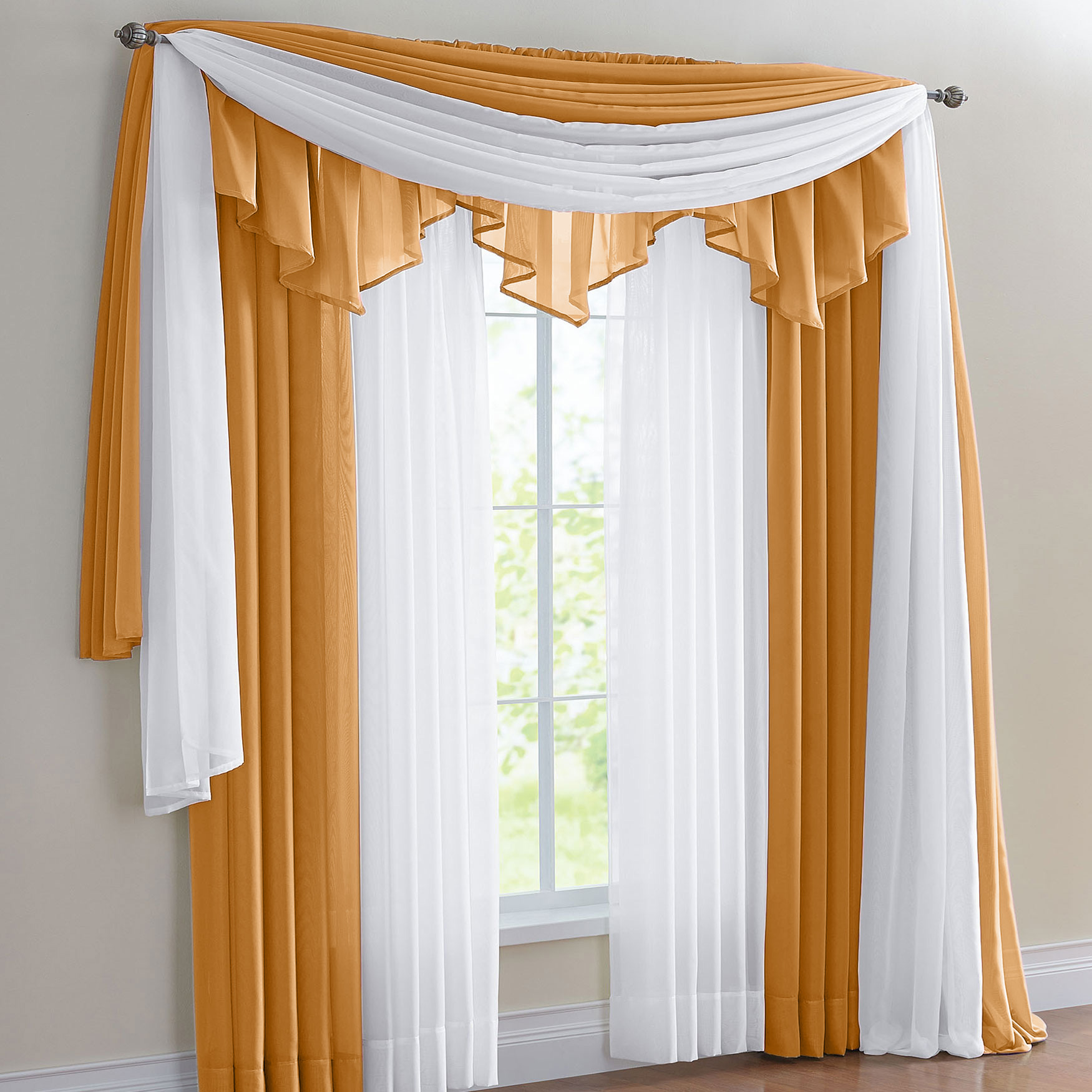 BH Studio Sheer Voile Ascot Valance,