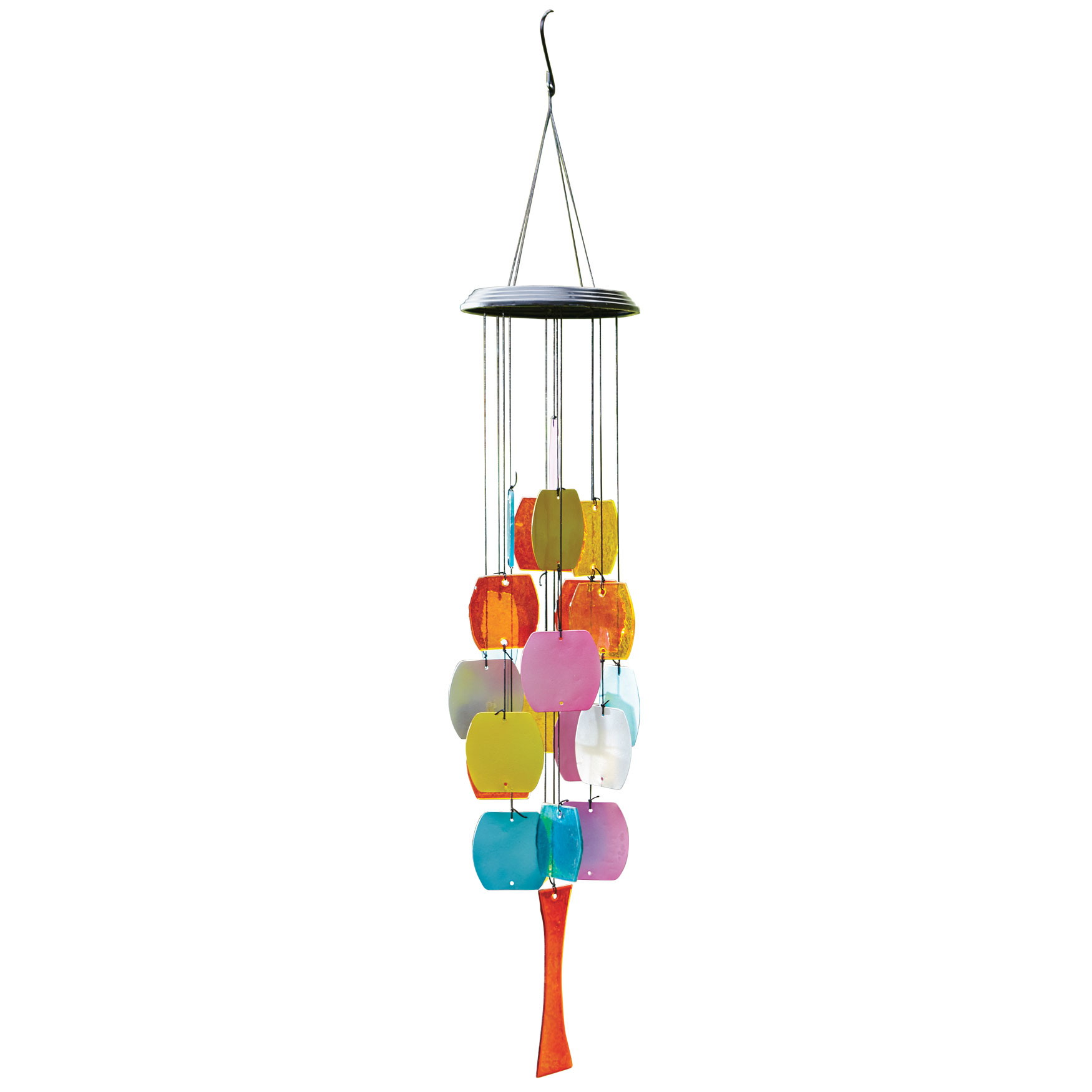 Luminous Glass Wind Chime, RED
