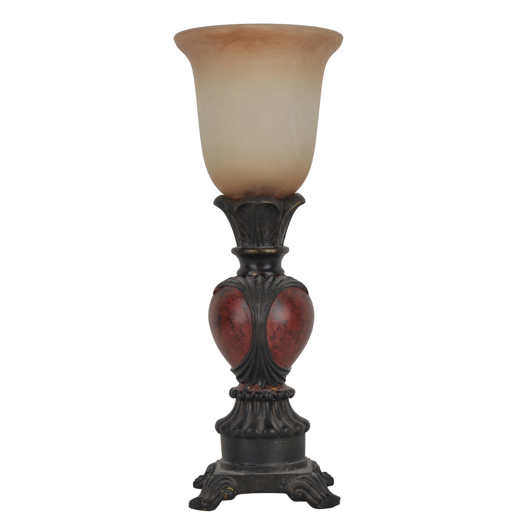 "16"" Traditional Carved Uplight, RICH RED"