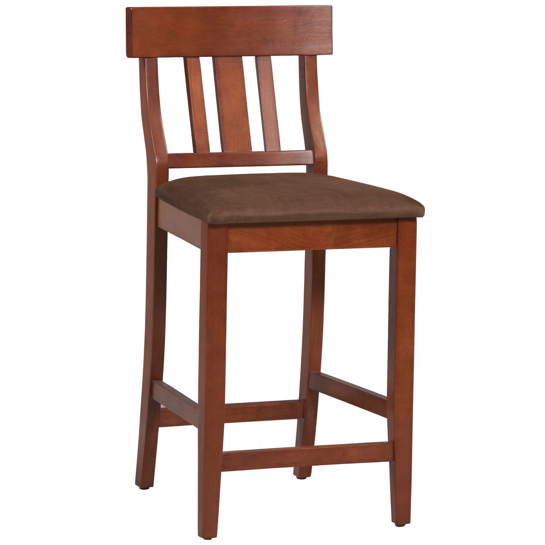Torino Collection Slat Back Center Stool, DARK CHERRY