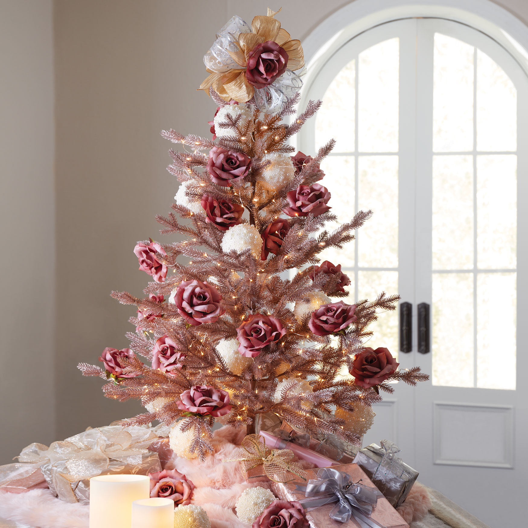 4' Rose Gold Christmas Tree, ROSE GOLD
