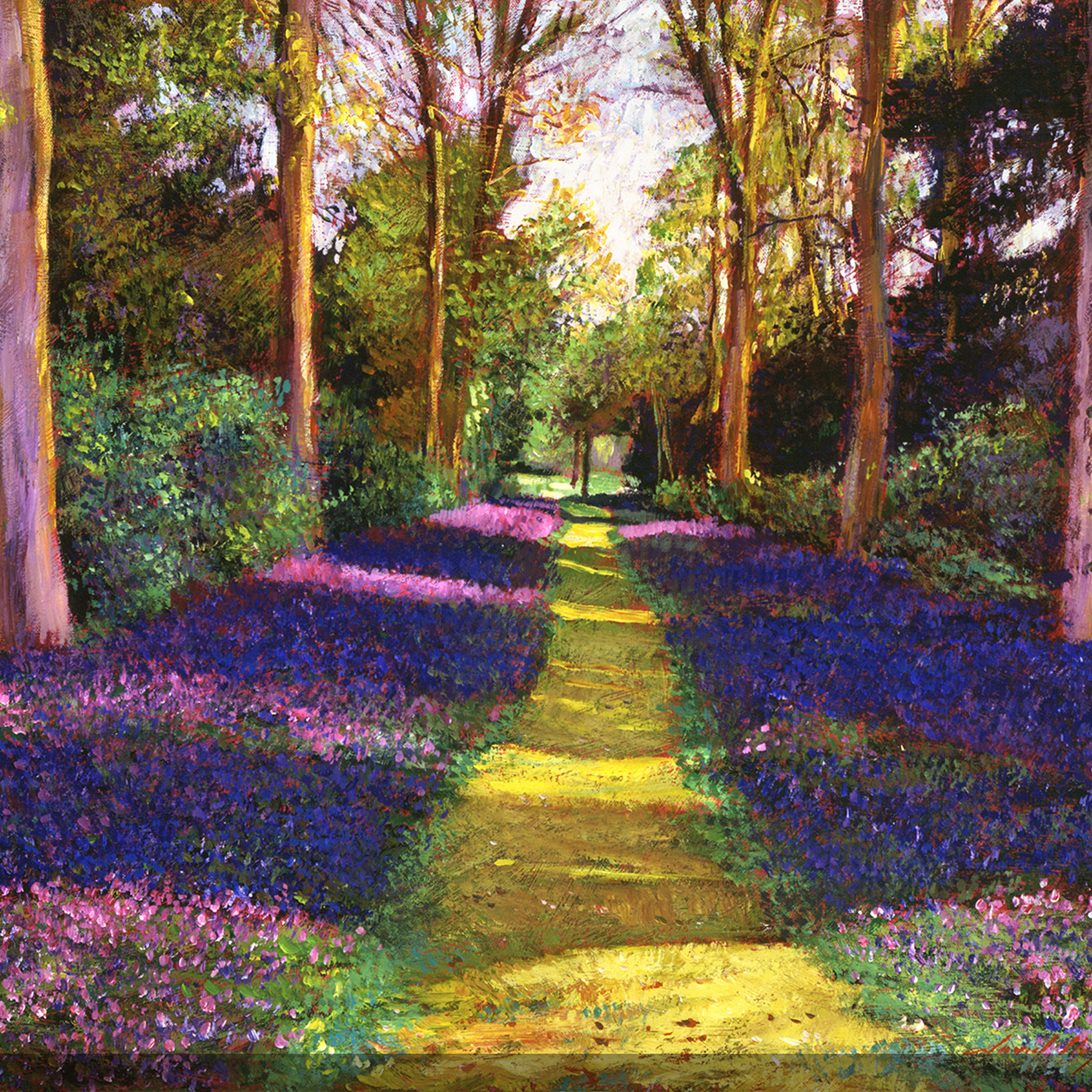 Blue Path Outdoor Canvas Art, MULTI