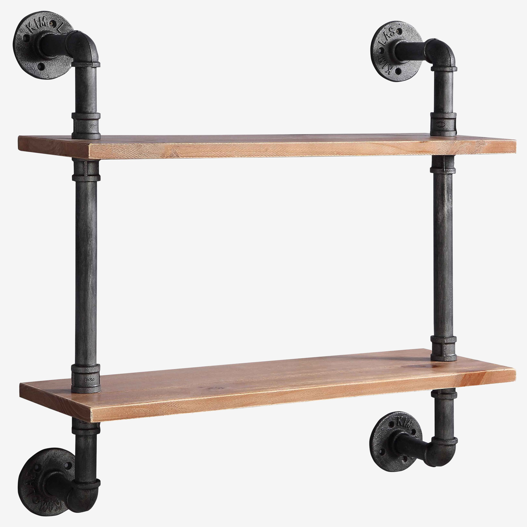 Allentown 2 Shelf Piping, BLACK