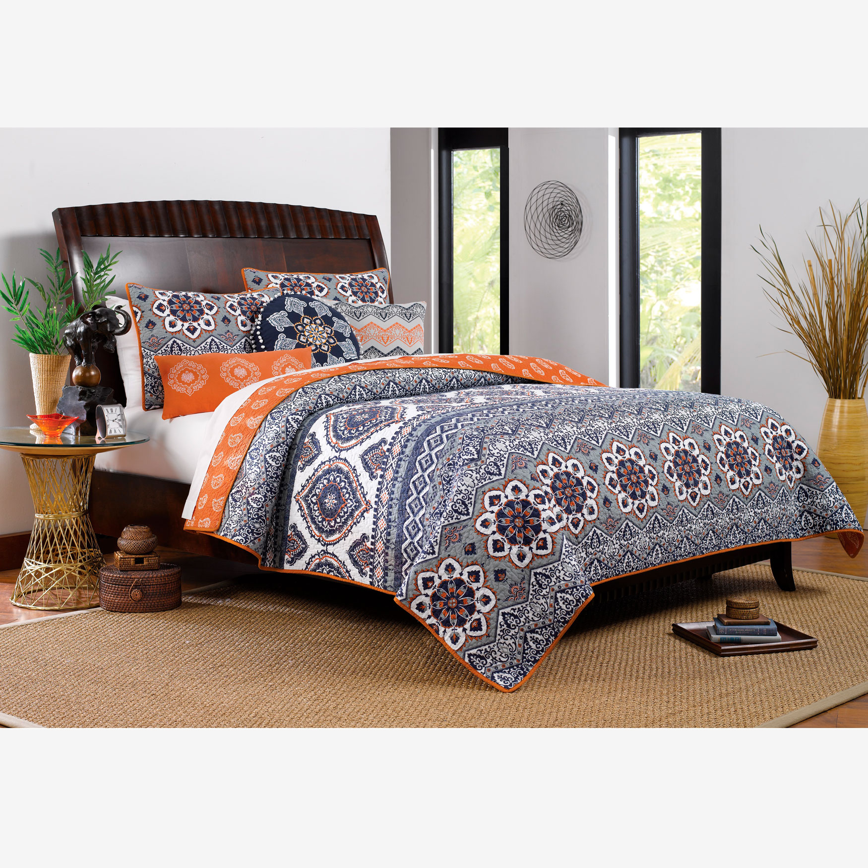 Medina Quilt Set by Greenland Home Fashions,