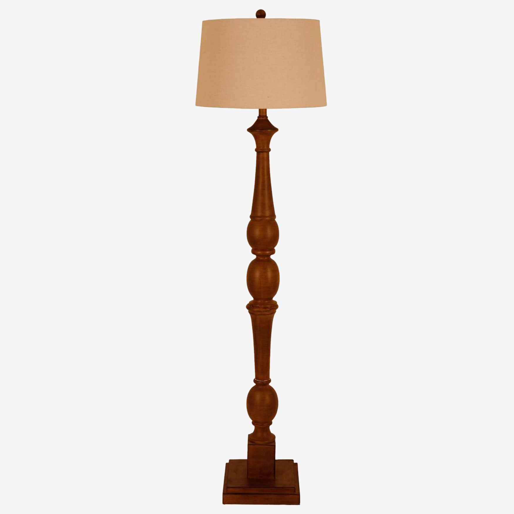Crossmill Baluster Floor Lamp, BROWN
