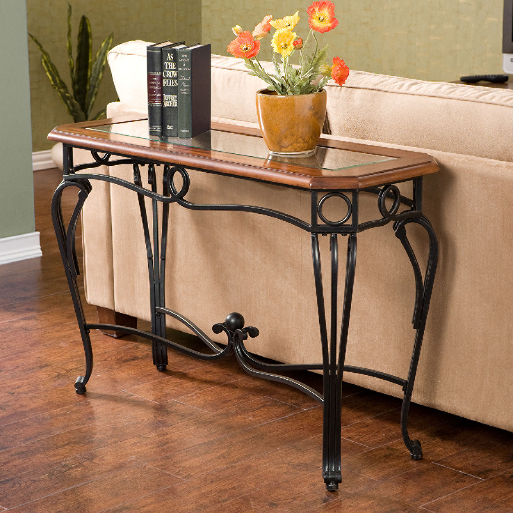 Prentice Sofa Table, BLACK