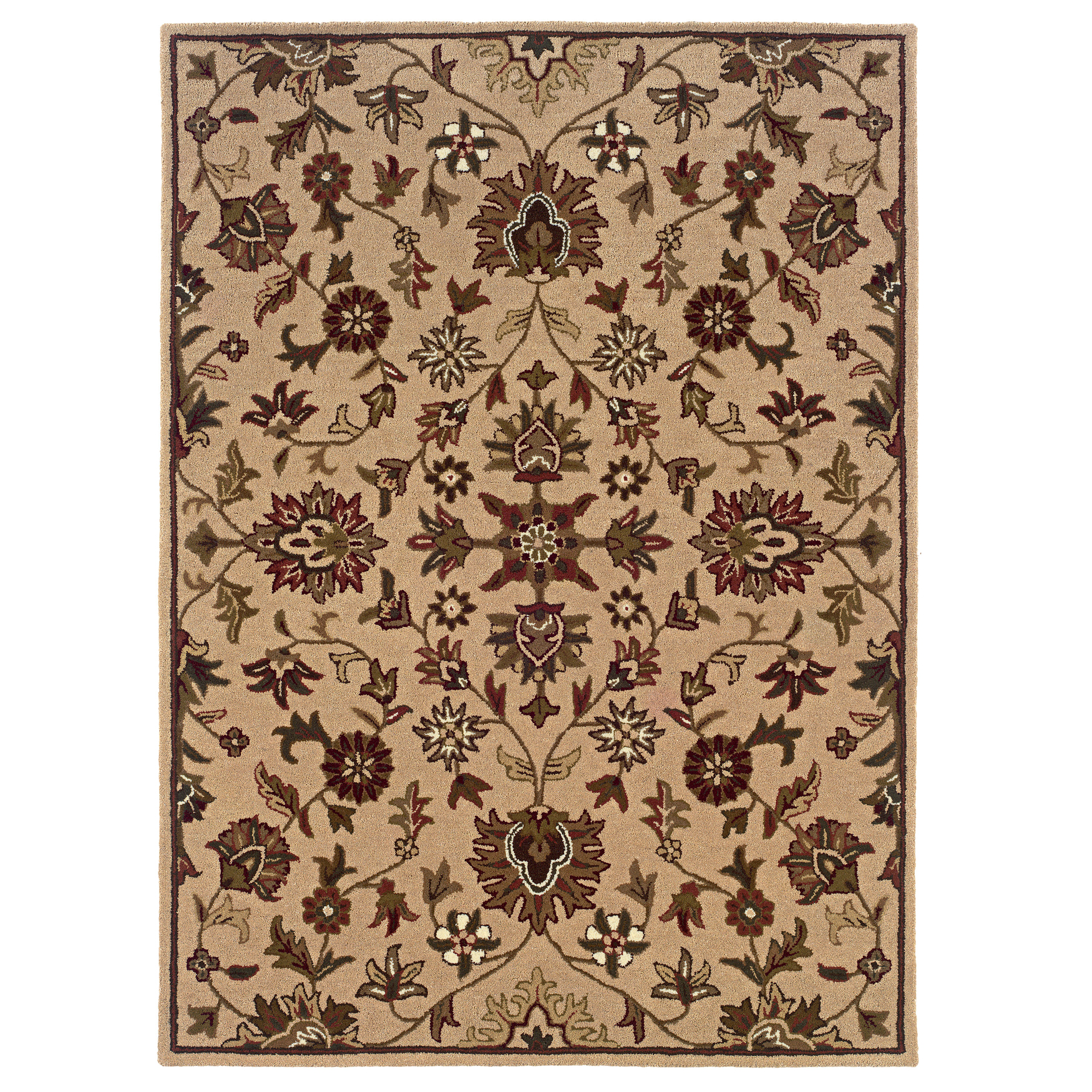 Trio Traditional Gold 8'X10' Area Rug, GOLD