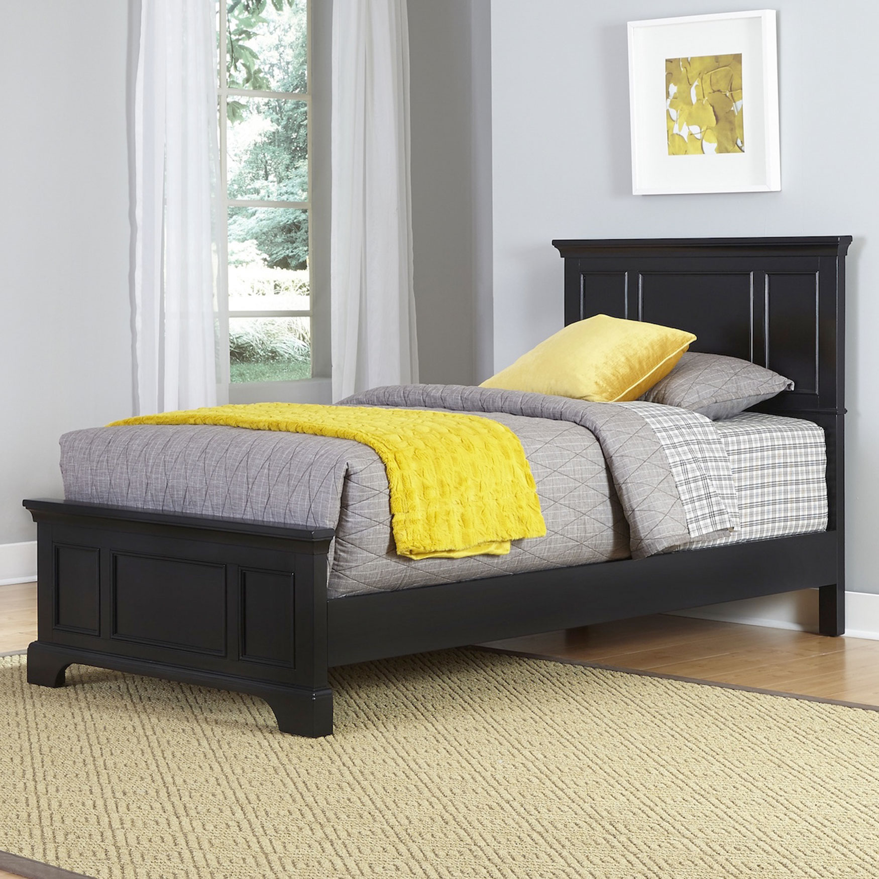 Bedford Twin Bed, BLACK