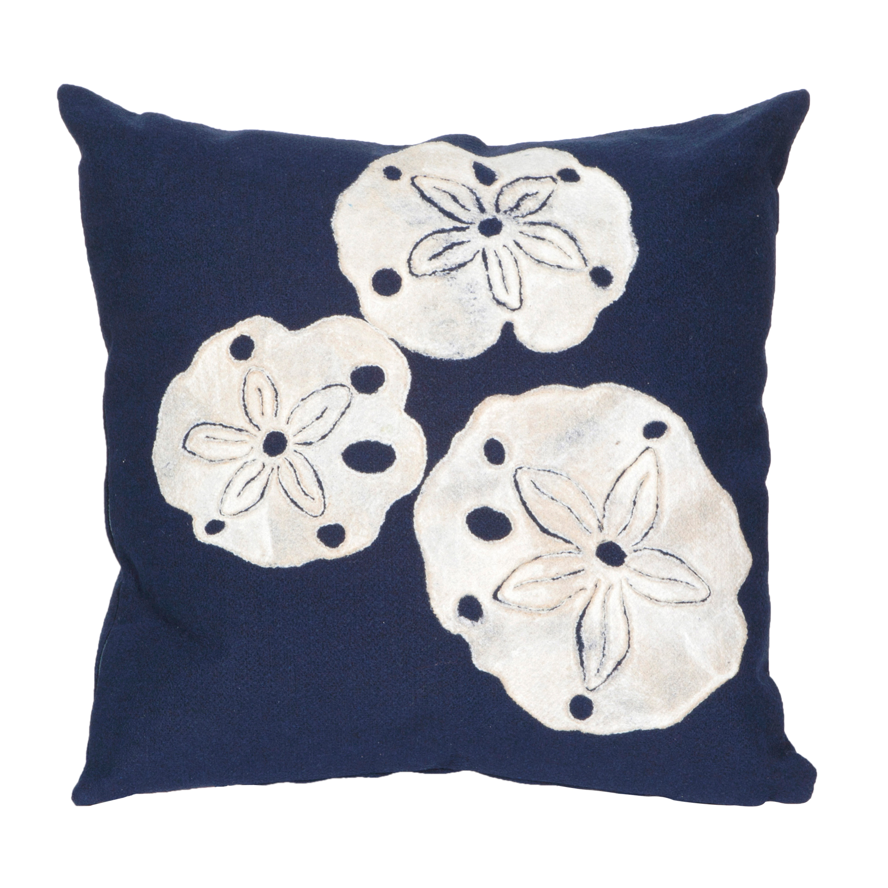 Sand Dollar Throw Pillow, NAVY