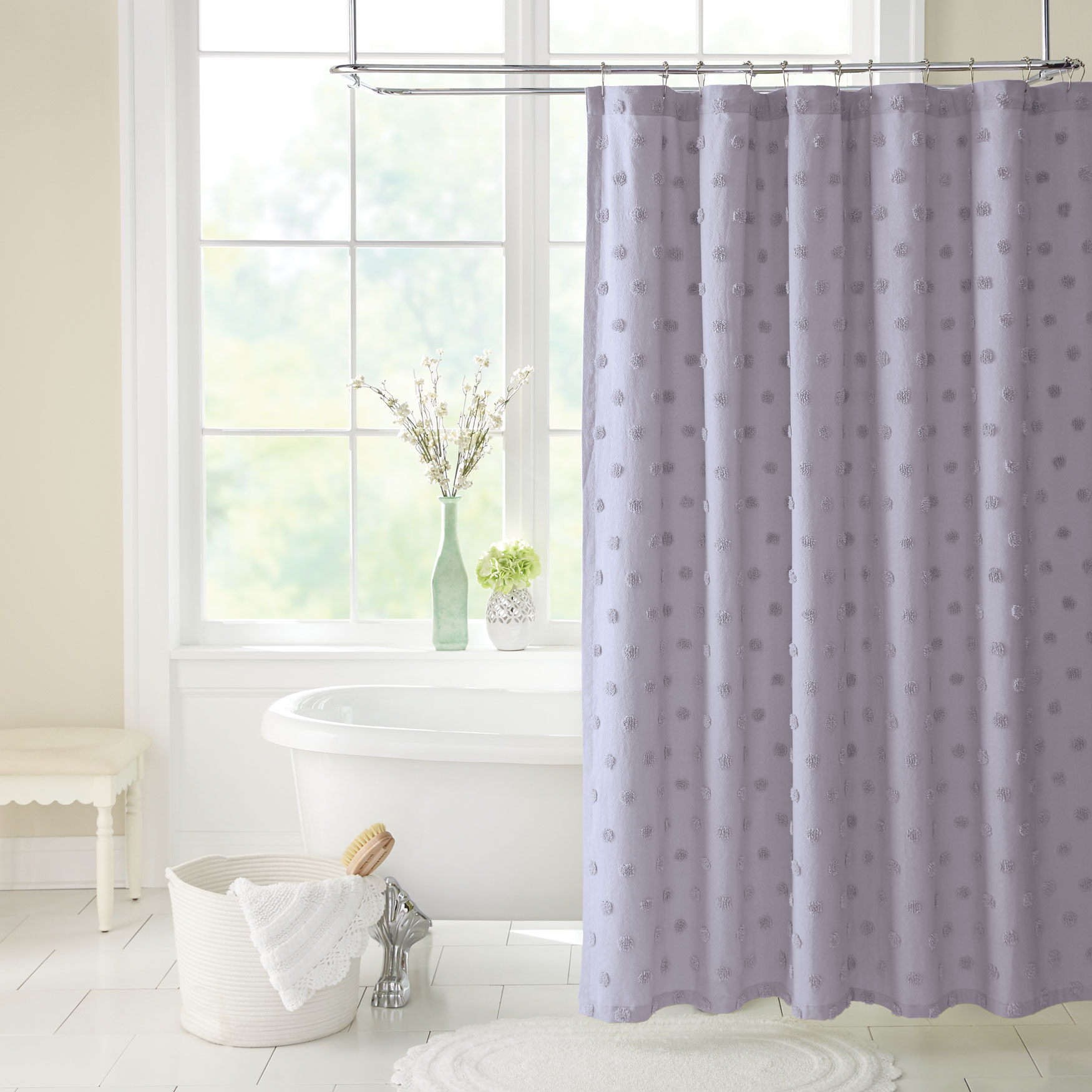 Georgia Chenille Shower Curtain,