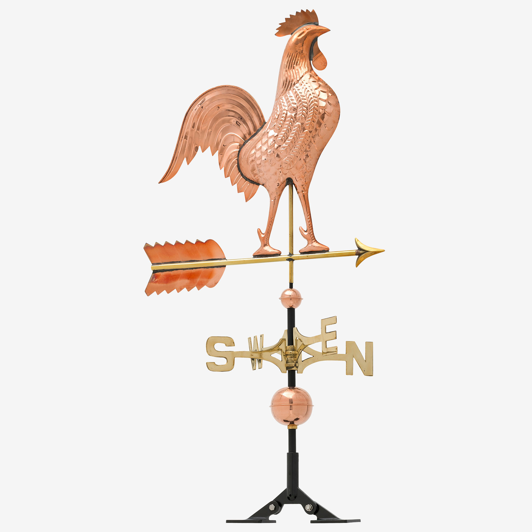 Copper Rooster Weathervane,