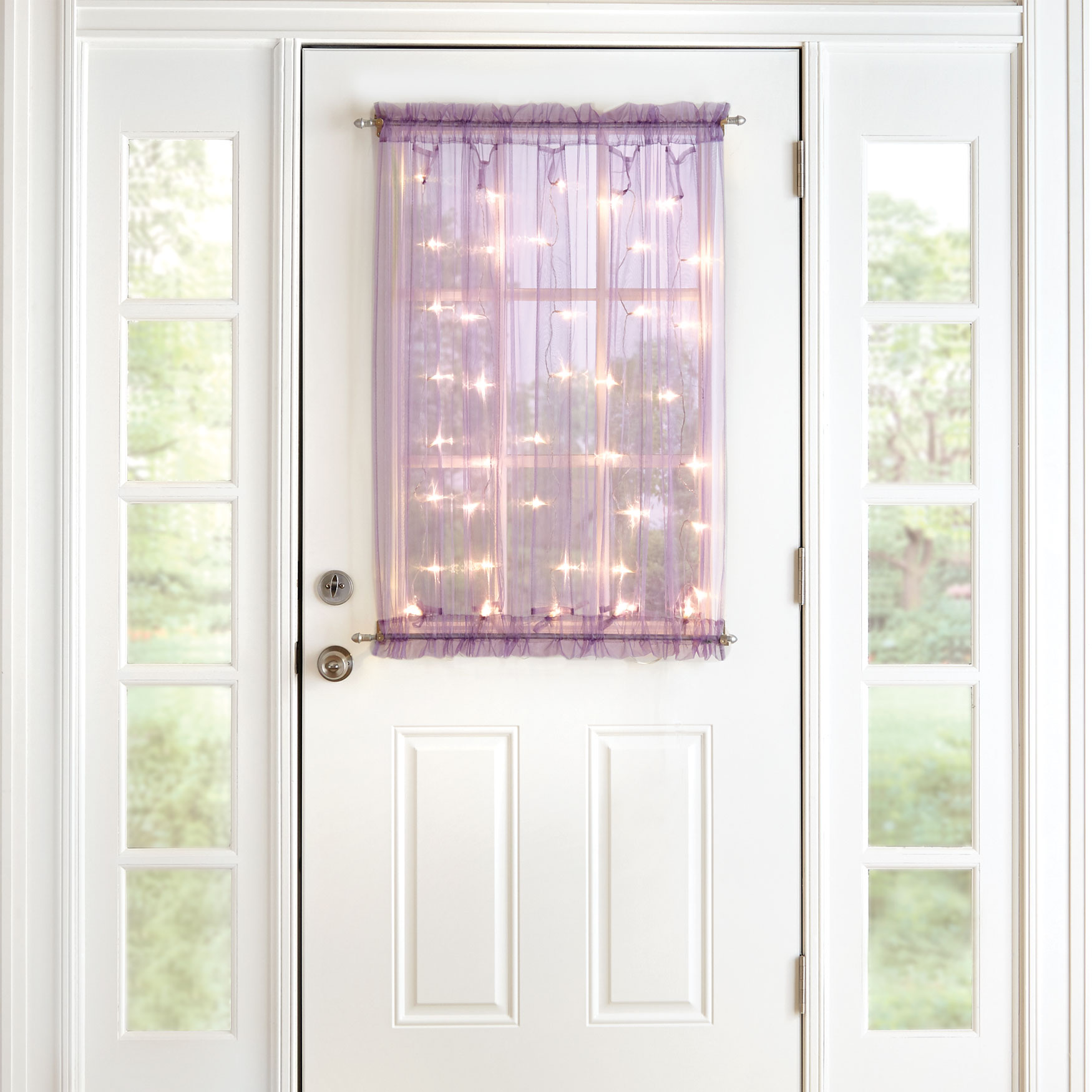 "40"" Pre-Lit Door Panel, PURPLE"