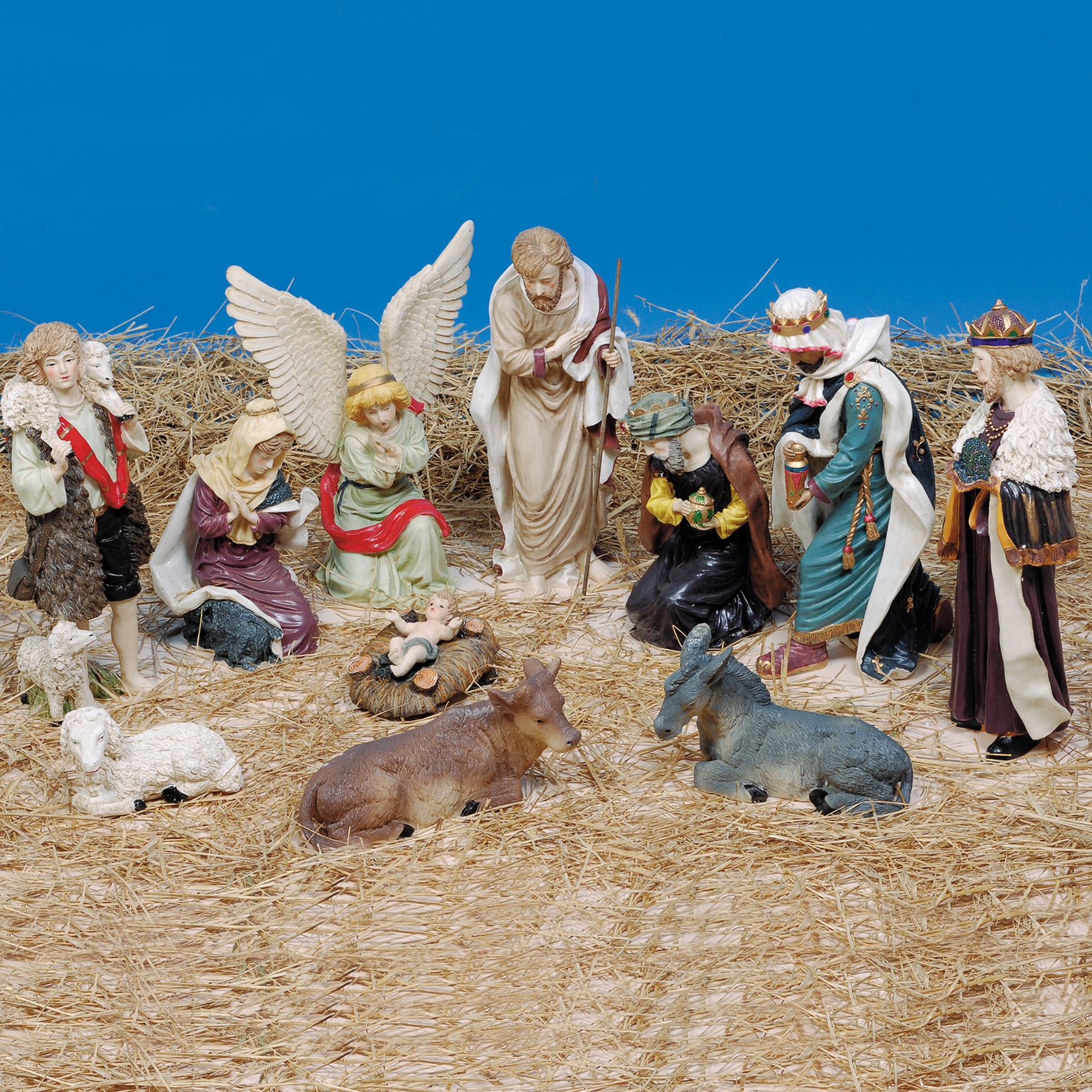 11-Pc Nativity Figures, MULTI