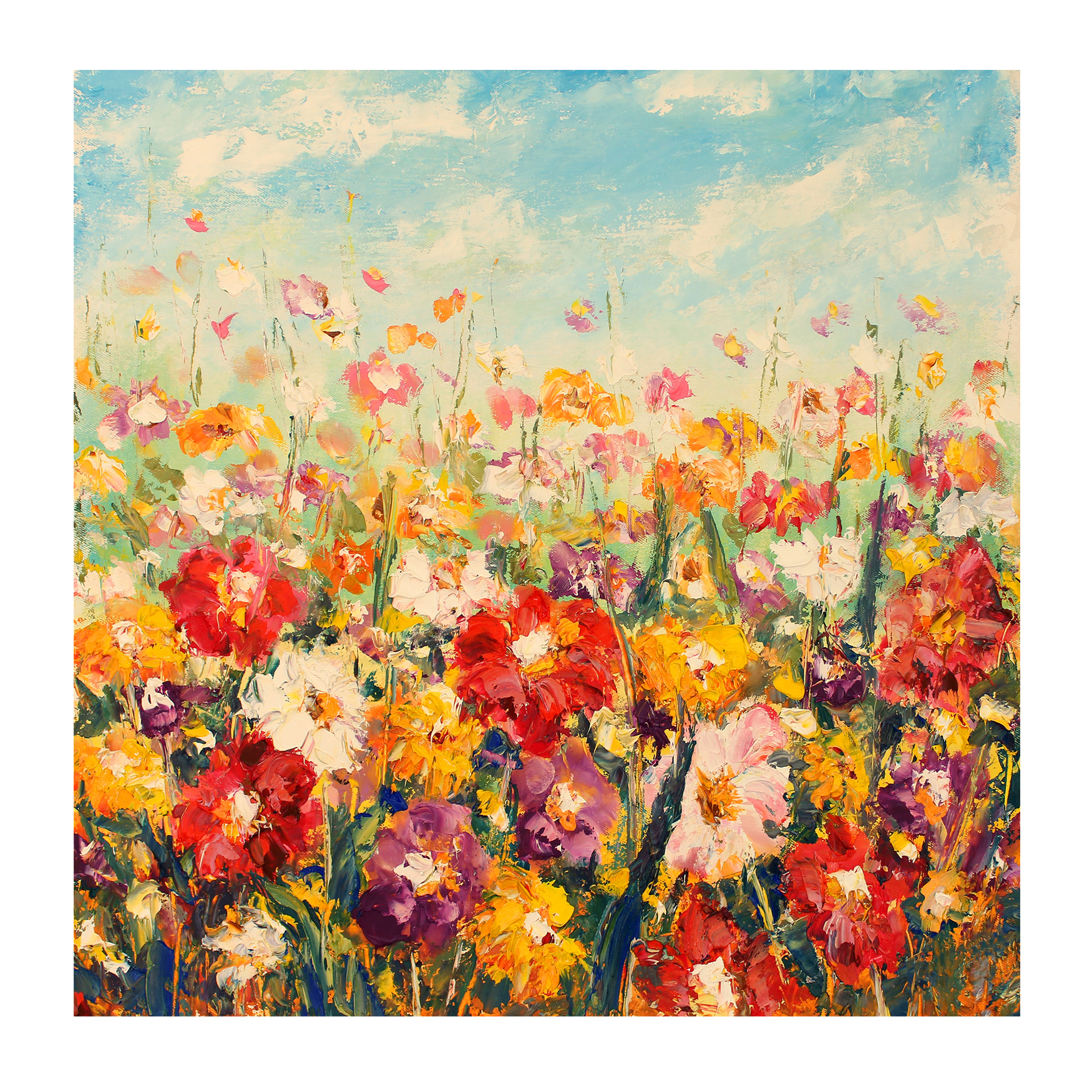 Floral Palette All-Weather Outdoor Canvas Art, MULTI