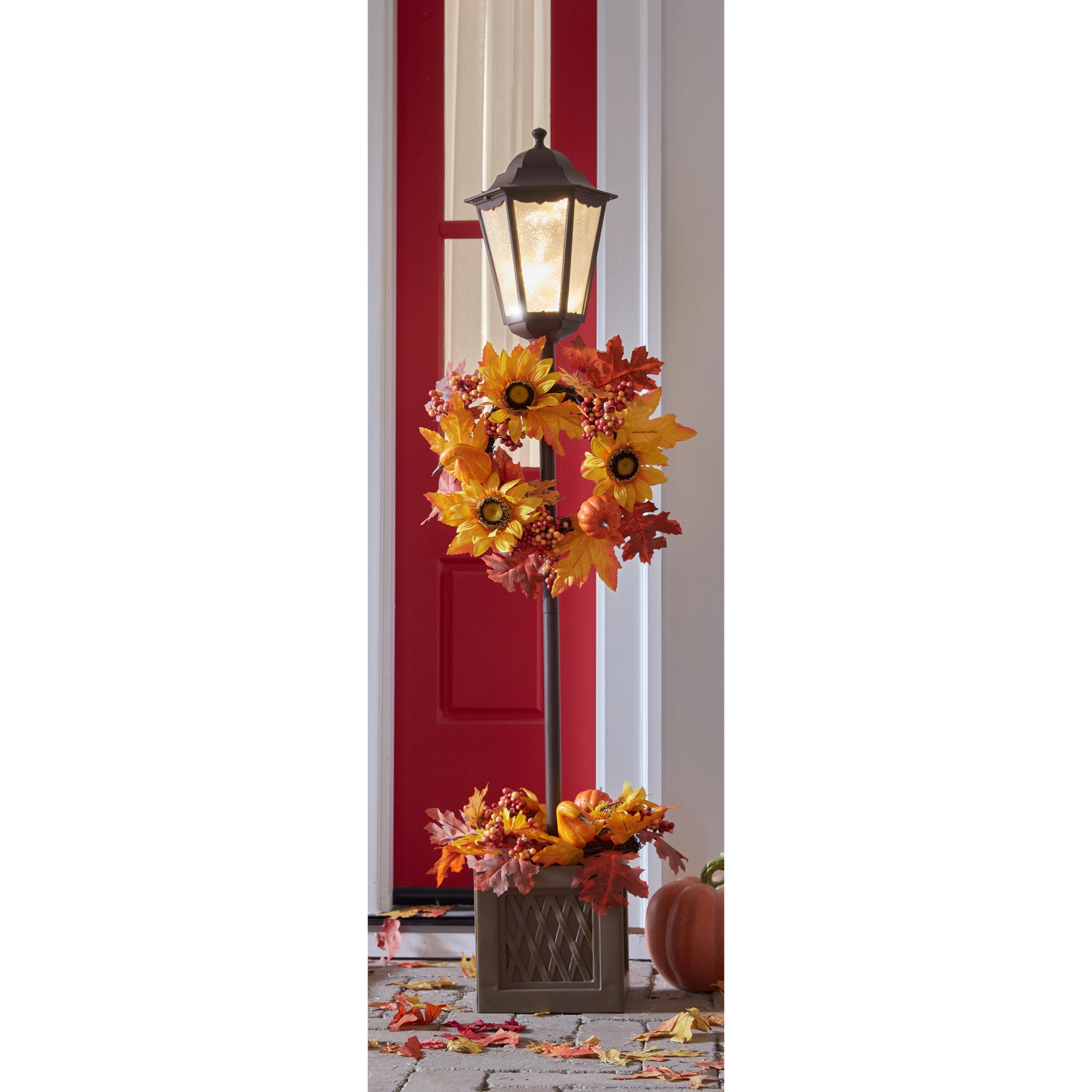 "48"" Harvest Lamppost with Brown Urn, MULTI"