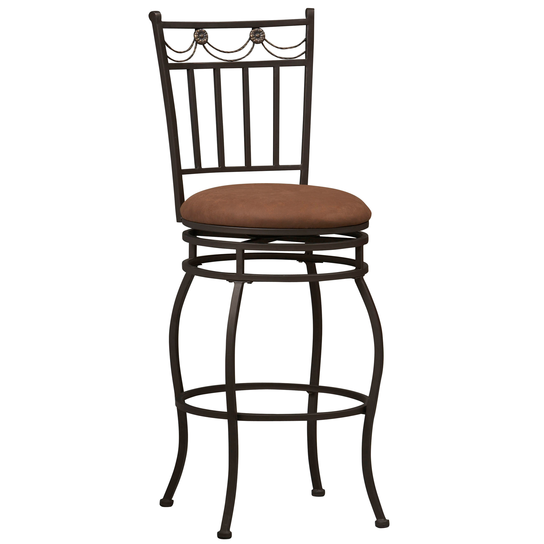 "Swag Bar Stool, 30""H, POWDER"