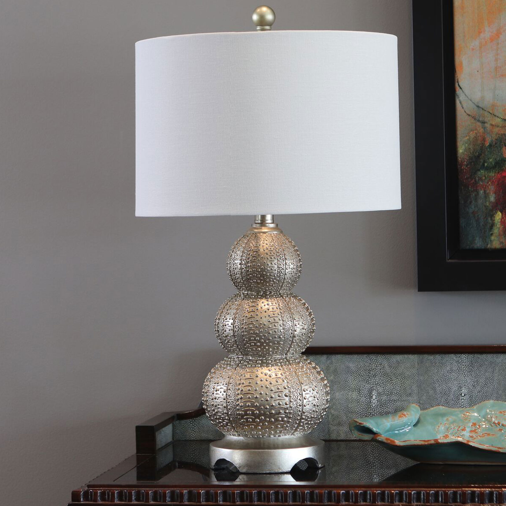Marin Table Lamp, SILVER