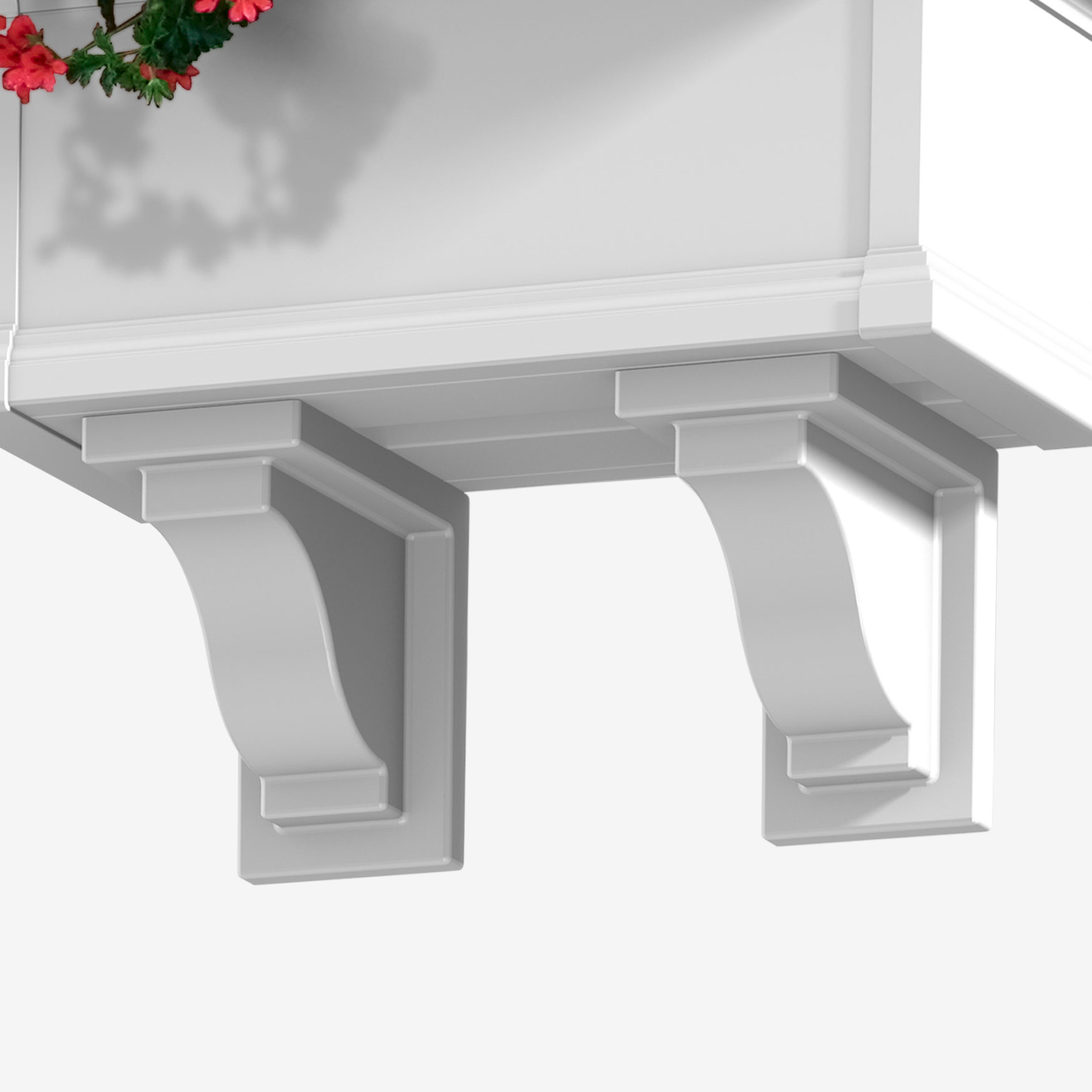 Mayne® Yorkshire Decorative Brackets 2-Pack, WHITE