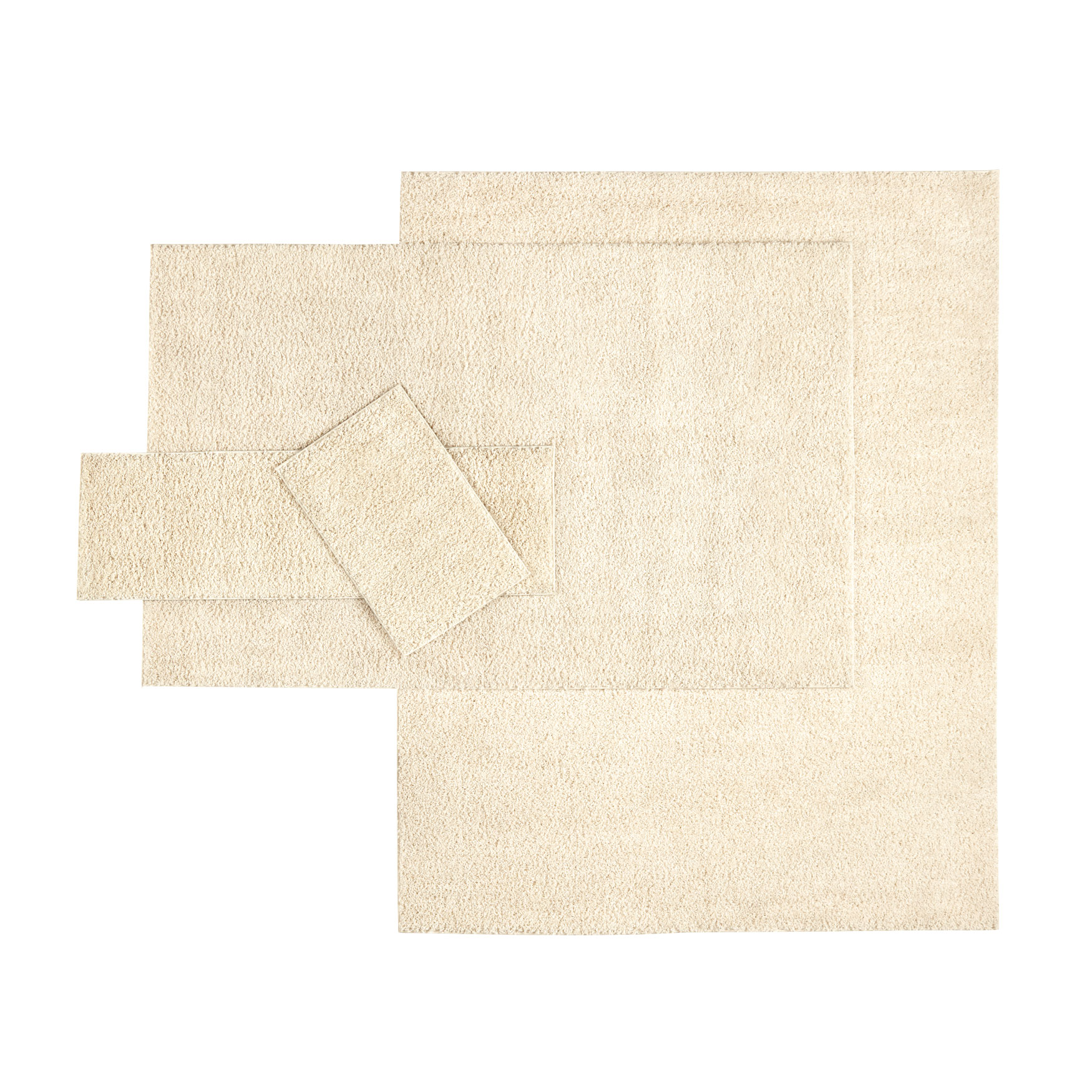 4-Pc. Shag Rug Set, IVORY