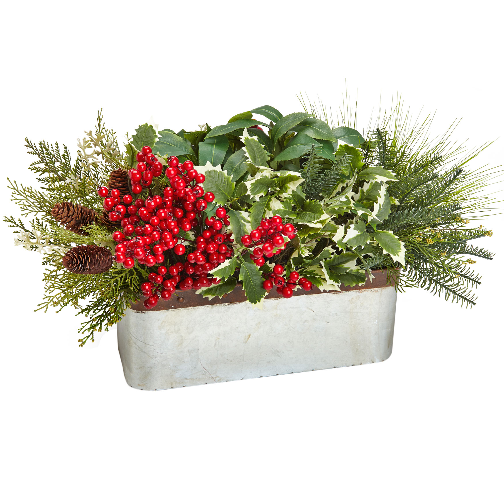 Mixed Berries Foliage Arrangement, MULTI