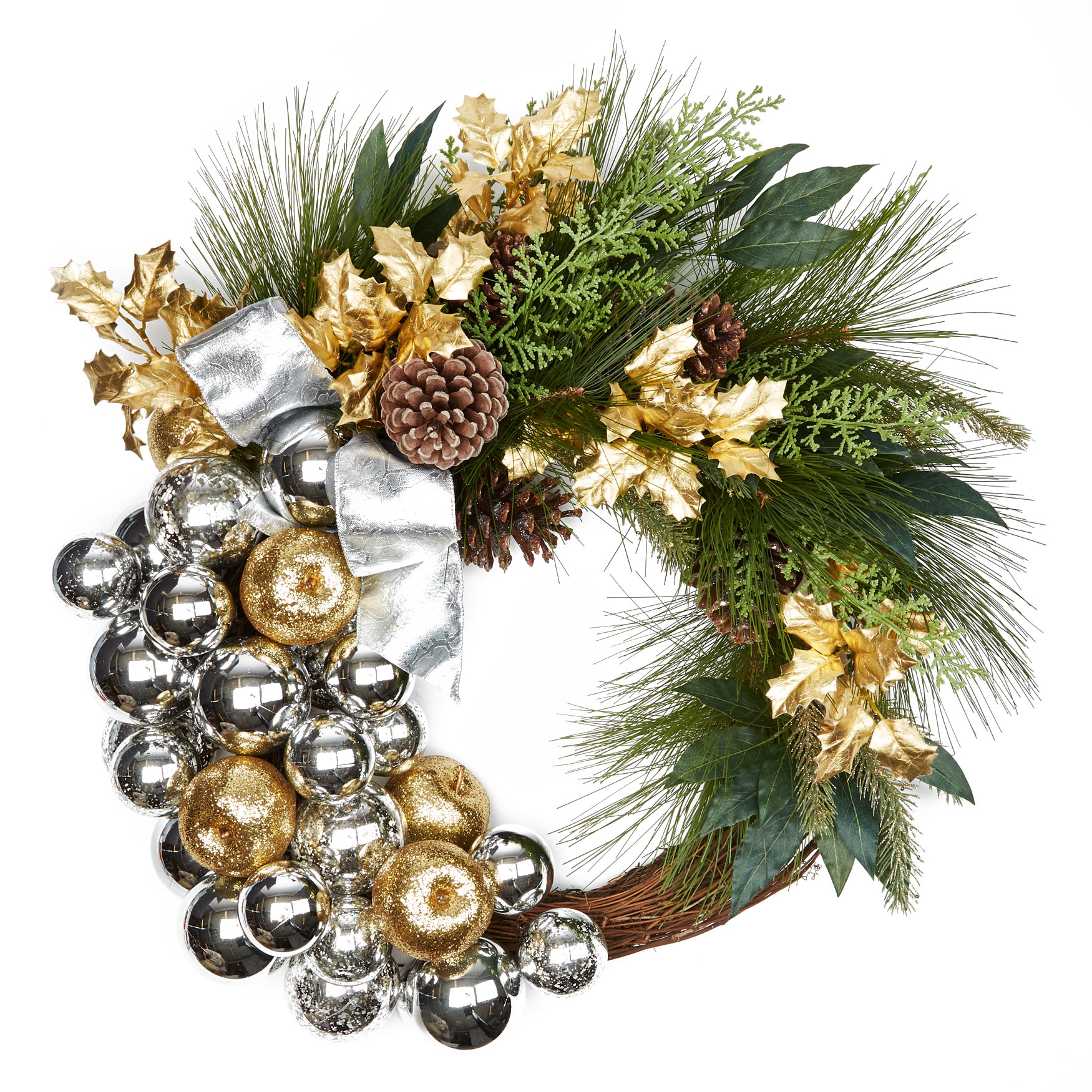 Silver & Gold Wreath, GOLD SILVER