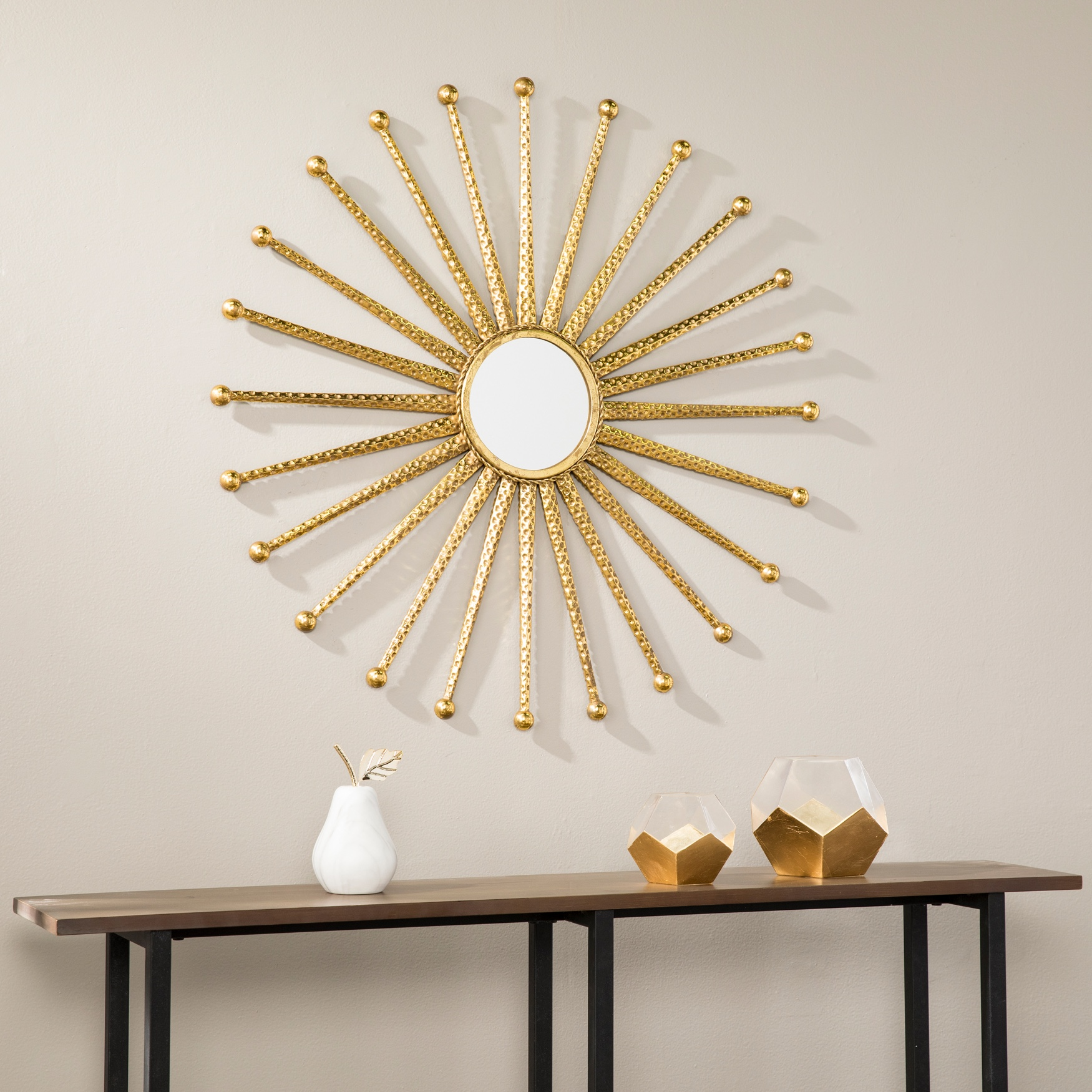Mandi Gold Starburst Decorative Wall Mirror, GOLD