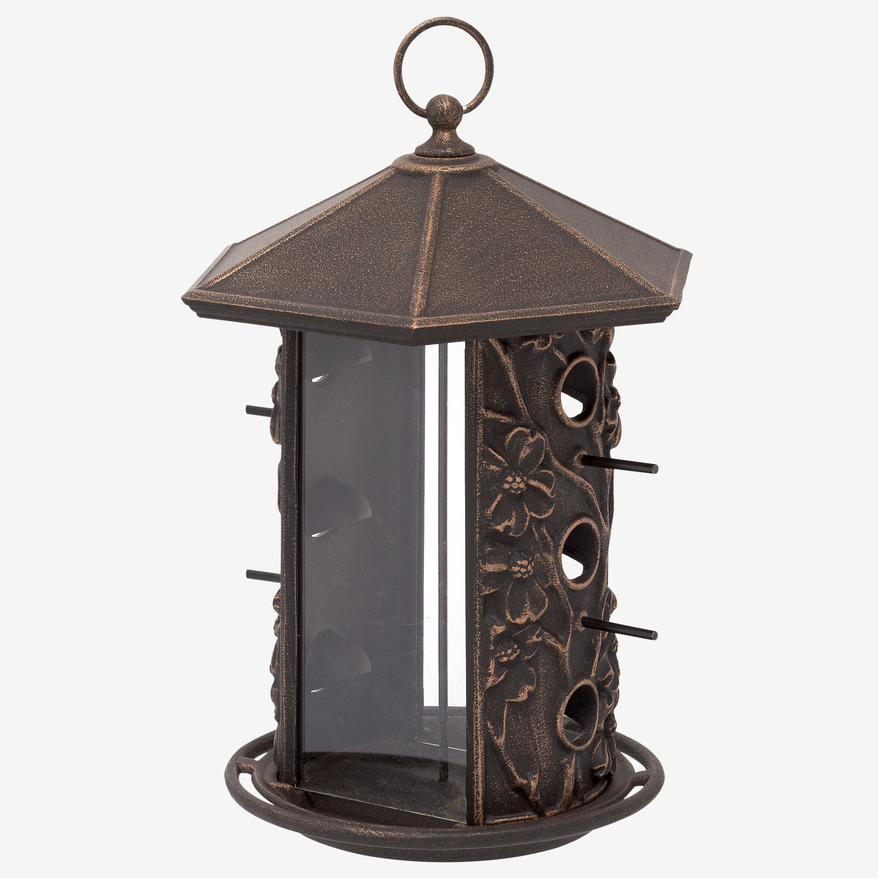 Dogwood Birdfeeder, OIL RUBBED BRONZE