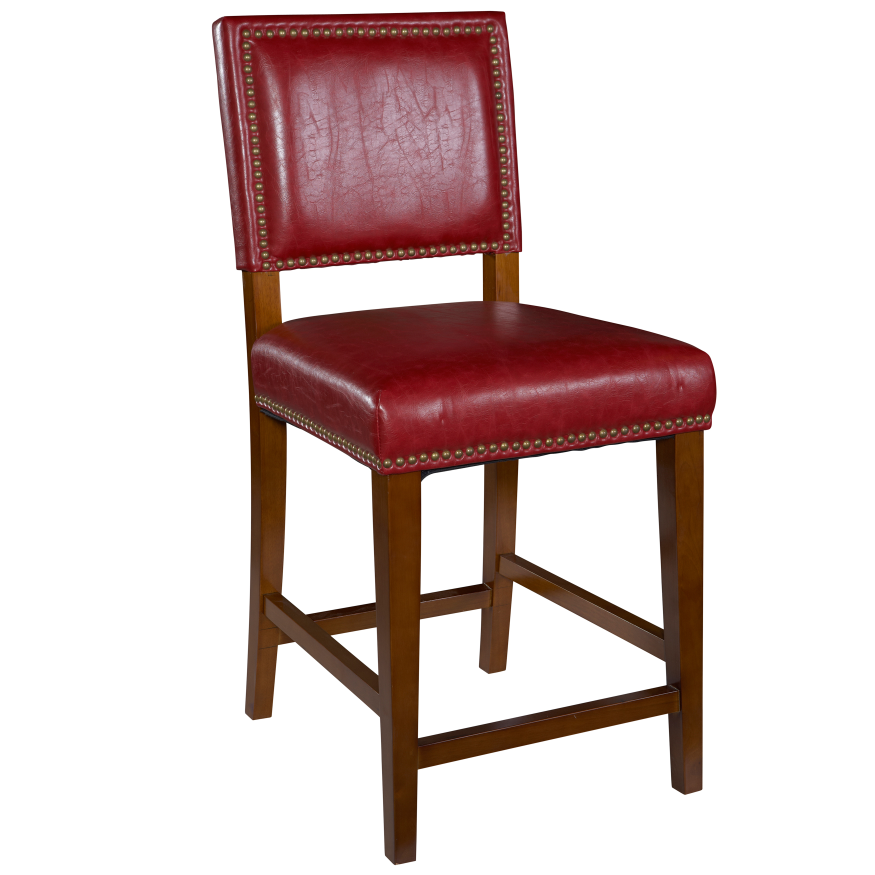 Brook Red Counter Stool, RED BROWN