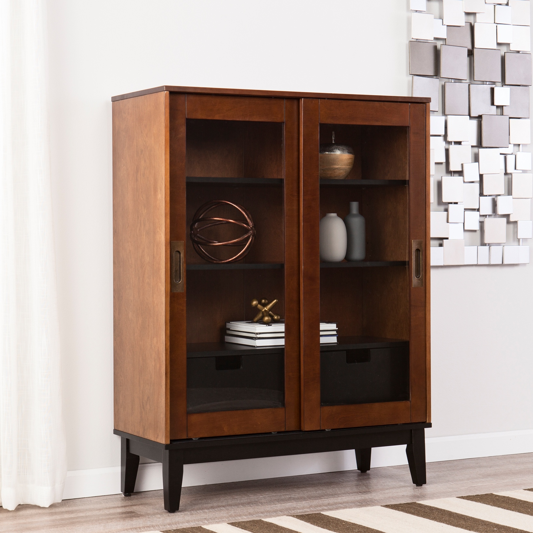 Holly & Martin Zhang Double-Door Display Cabinet, TOBACCO