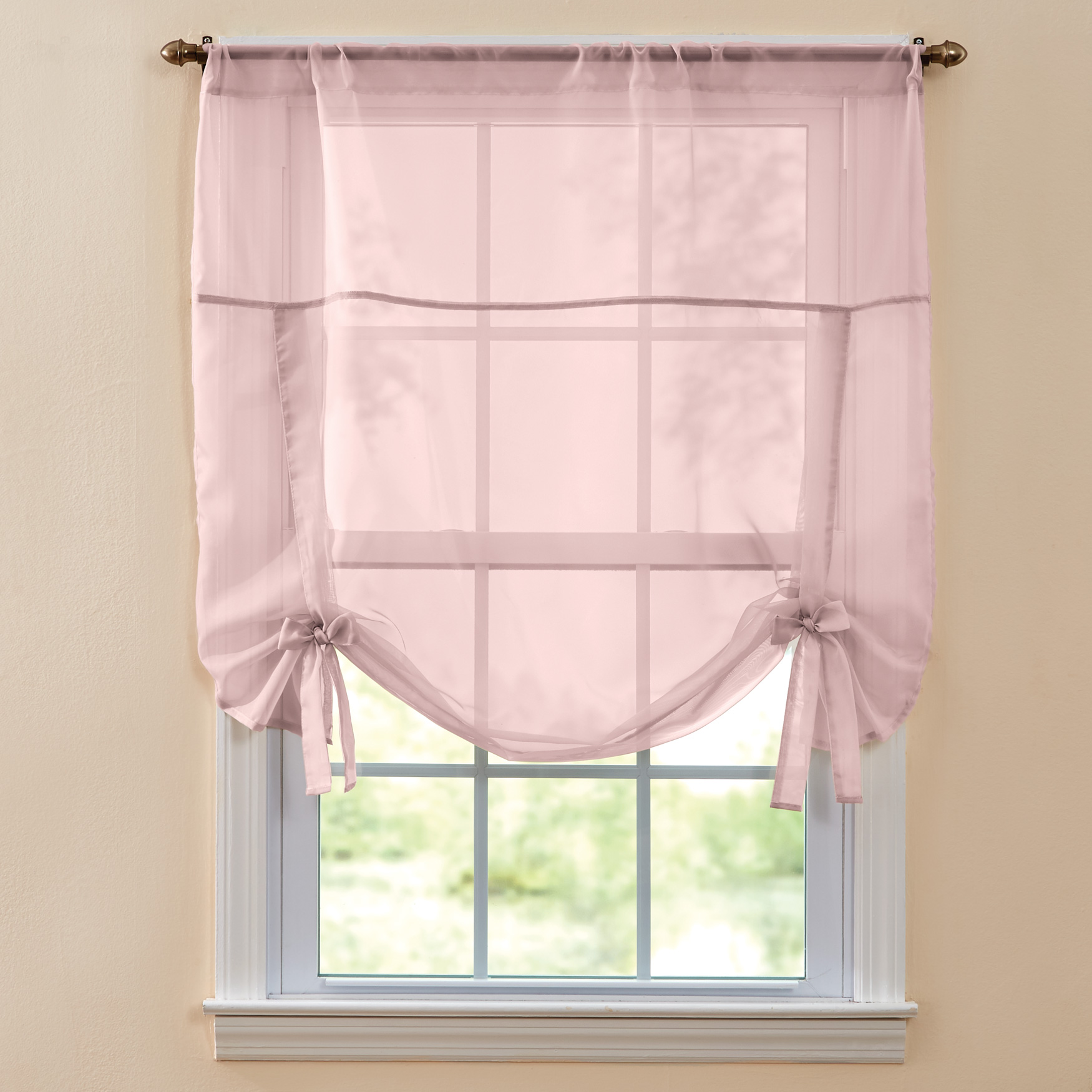 BH Studio Sheer Voile Tie-Up Shade,