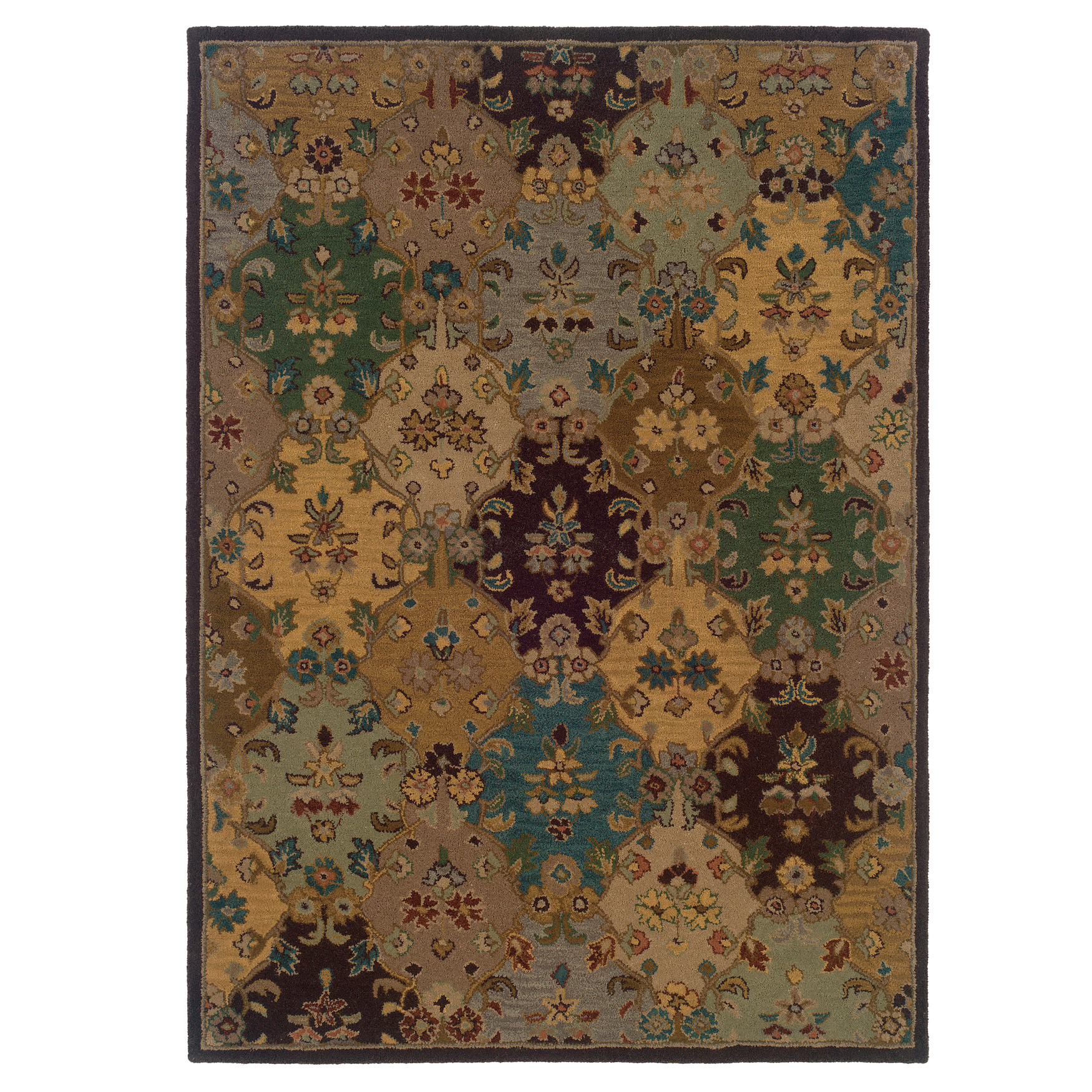 Trio Traditional Multi 8'X10' Area Rug, MULTI